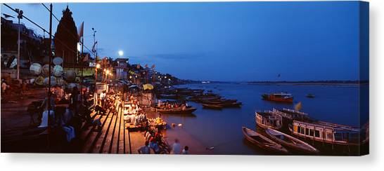 Ganges Canvas Print - Varanasi, India by Panoramic Images