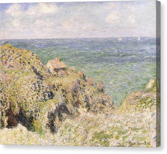 1880s Canvas Print - Varengeville Gorge by Claude Monet