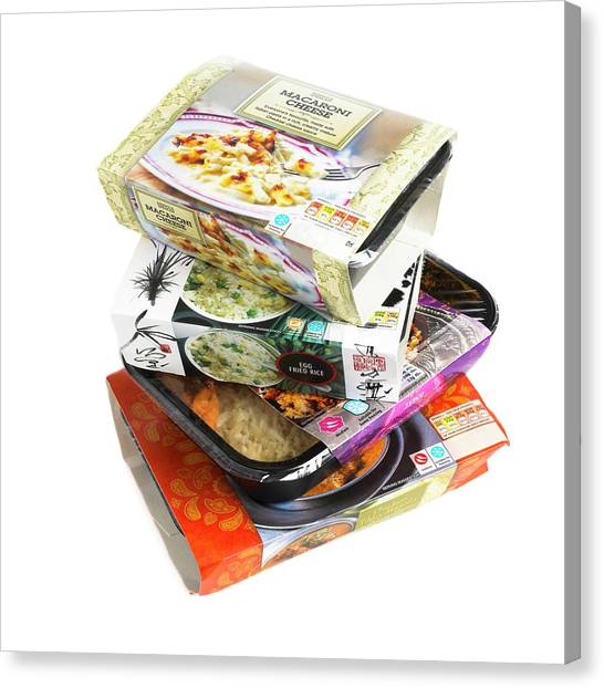 Various Ready Meals Canvas Print by Science Photo Library