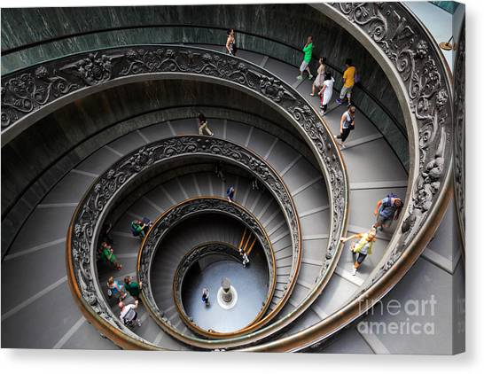 Rome Canvas Print - Vatican Spiral Staircase by Inge Johnsson