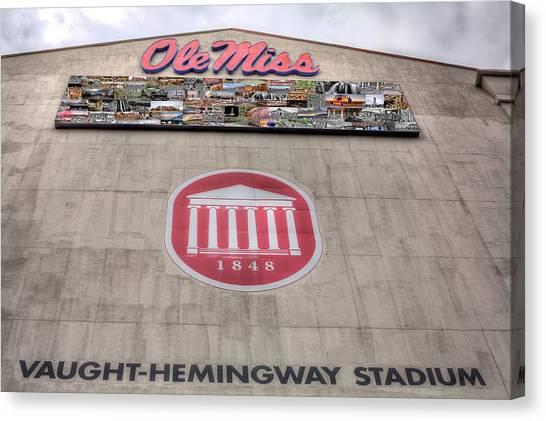 University Of Mississippi Ole Miss Canvas Print - Vaught Hemmingway Stadium by JC Findley