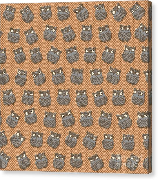 Grey Background Canvas Print - Vector Abstract Seamless Pattern From by L. Kramer