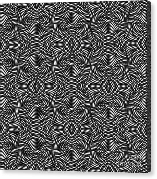 Muslim Canvas Print - Vector Abstract Seamless Wavy Pattern by L. Kramer