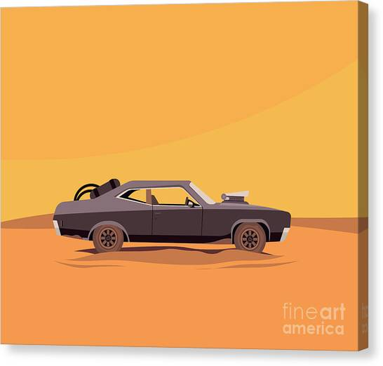 Vector Flat Illustration Of A Vehicle Canvas Print by Supercaps