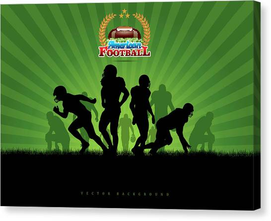 Vector Football Background Canvas Print by Stock art