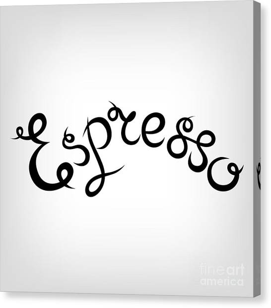 Pencil Art Canvas Print - Vector Hand-drawn Cute Lettering by Avena