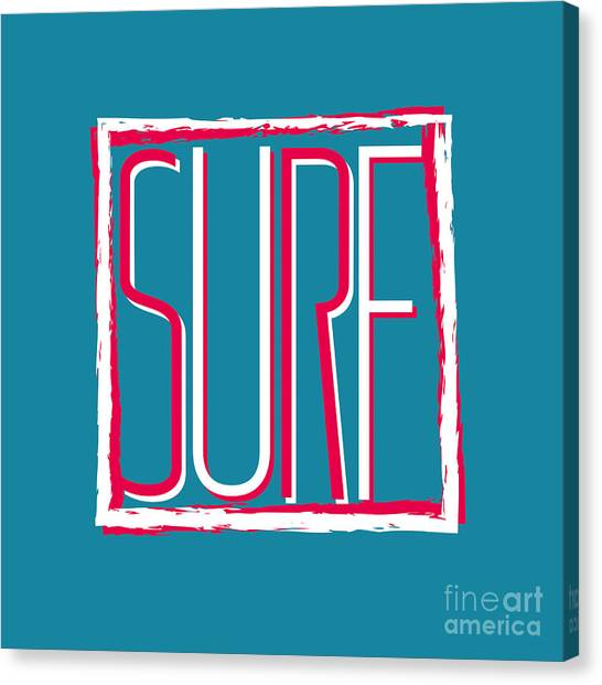 Clothing Canvas Print - Vector Illustration Californian Surf by Artem Kovalenco