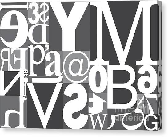 Vector Typography Blocks Canvas Print by Rob Pitman