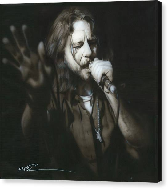 Pearl Jam Canvas Print - Vedder IIi by Christian Chapman Art