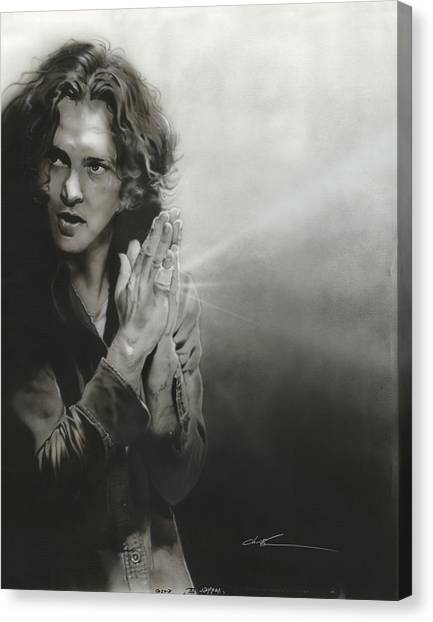 Pearl Jam Canvas Print - Vedder Iv by Christian Chapman Art