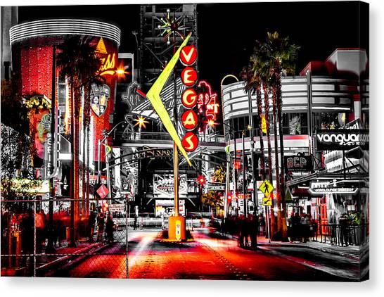 Party Canvas Print - Vegas Nights by Az Jackson