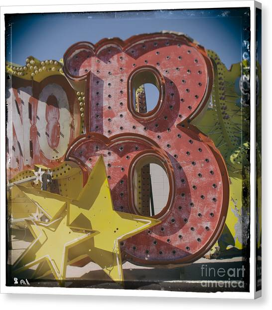 Vegas Red Letter B Canvas Print