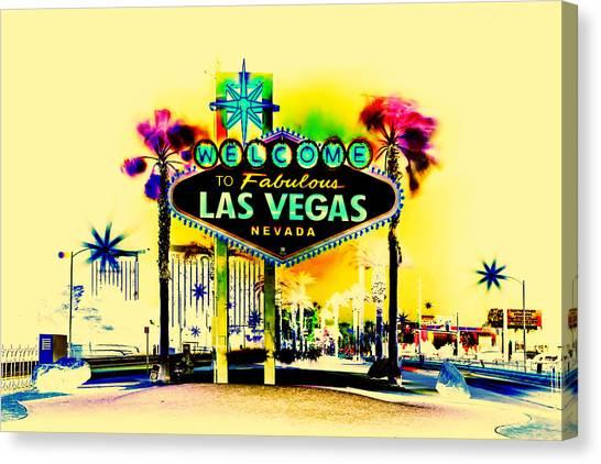 Nevada Canvas Print - Vegas Weekends by Az Jackson