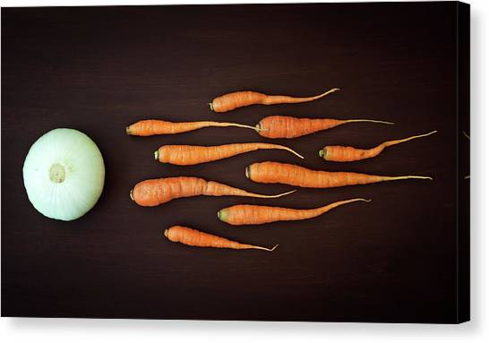 Carrots Canvas Print - Vegetable Reproduction by Nermin Smaji?