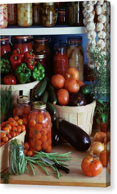 Vegetables For Pickling Canvas Print