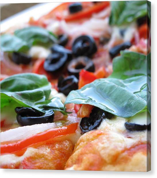 Vegetarian Pizza Canvas Print by Keith May