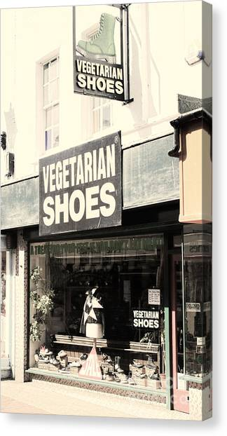 Vegetarian Shoes Canvas Print