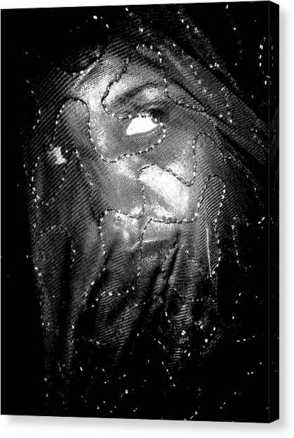 Veiled Female Canvas Print