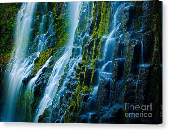 Horizontal Canvas Print - Veiled Wall by Inge Johnsson