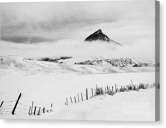 Veiled Winter Peak Canvas Print