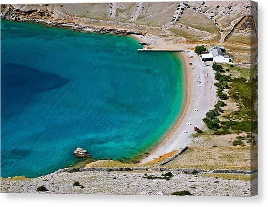 Drywall Canvas Print - Vela Luka Beautiful Clean Beach Krk Croatia by Brch Photography