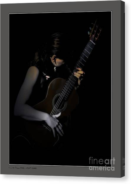 Velvet Chords Canvas Print