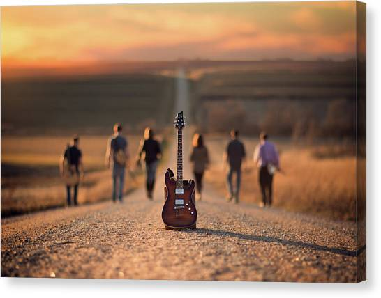 Electric Guitars Canvas Print - Velvet Crush by Jake Olson