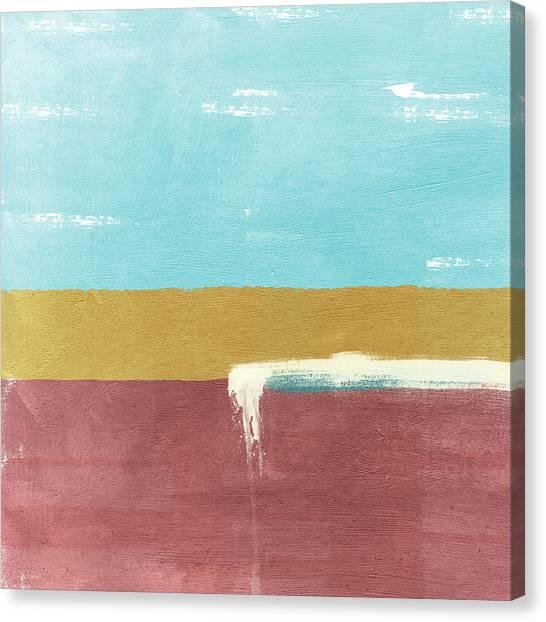 Wedding Canvas Print - Velvet Horizon- Abstract Landscape by Linda Woods