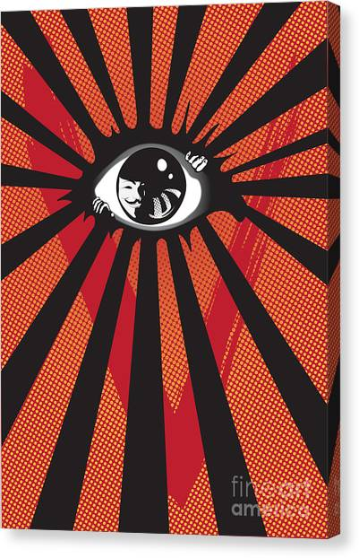 Sun Rays Canvas Print - Vendetta2 Eyeball by Sassan Filsoof