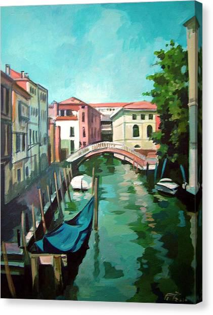 Venetian Channel 2 Canvas Print by Filip Mihail