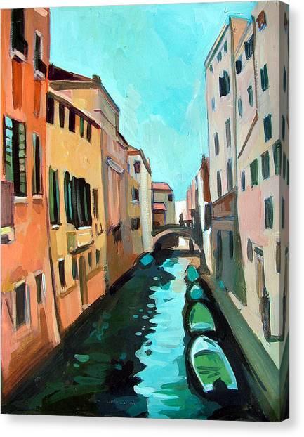 Venetian Channel Canvas Print by Filip Mihail