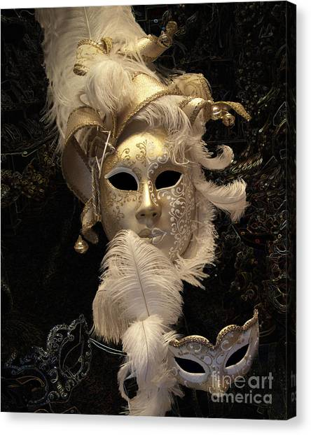 Venetian Face Mask B Canvas Print