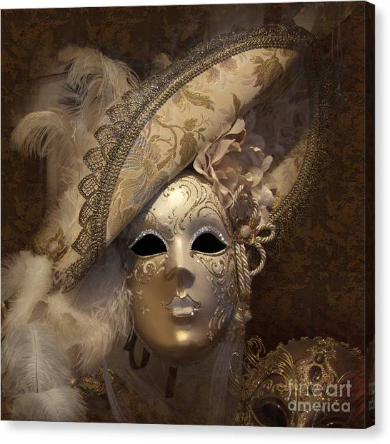 Venetian Face Mask F Canvas Print
