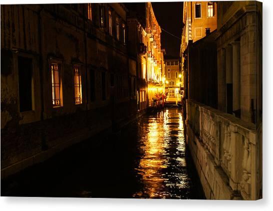 Venetian Golden Glow Canvas Print