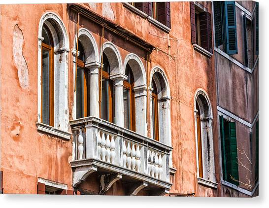 Venetian Houses In Italy Canvas Print