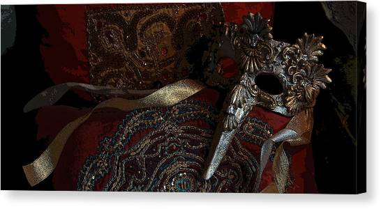 After The Carnival - Venetian Mask Canvas Print