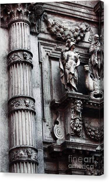 Venetian Statues Canvas Print by John Rizzuto
