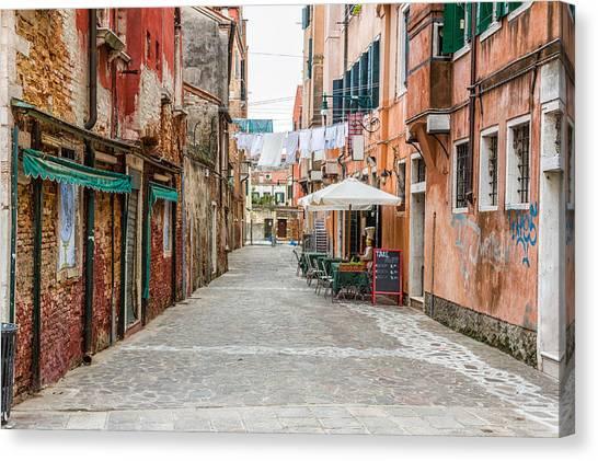 Venetian Street Canvas Print