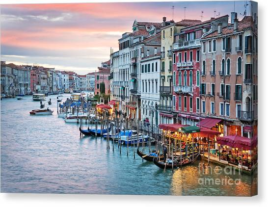 Facade Canvas Print - Venetian Sunset by Delphimages Photo Creations