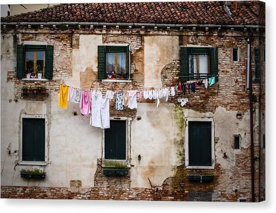 Venetian Washing Canvas Print