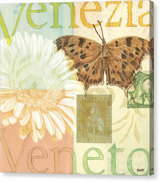 Word Art Canvas Print - Venezia by Debbie DeWitt