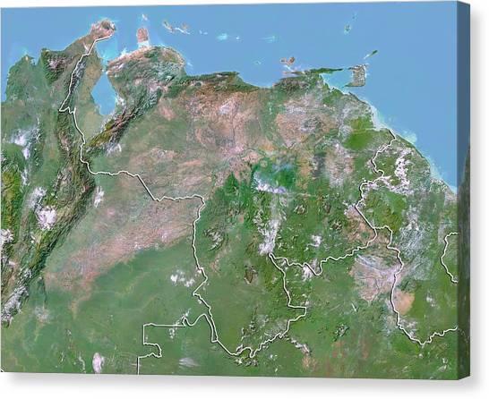 Venezuela Topographic Map.Topographic Map Canvas Prints Page 4 Of 33 Fine Art America