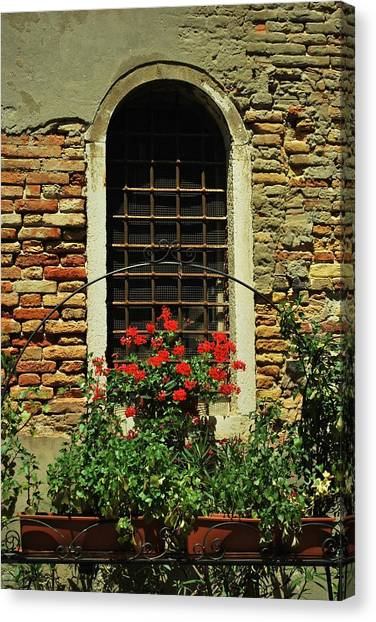 Venice Antique Window Canvas Print