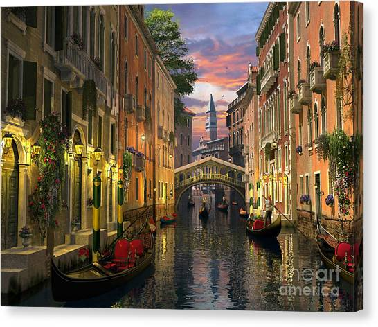 Venice At Dusk Canvas Print