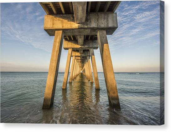 Venice Below The Pier Canvas Print