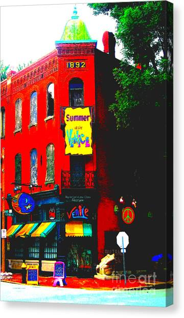 Venice Cafe' Painted And Edited Canvas Print