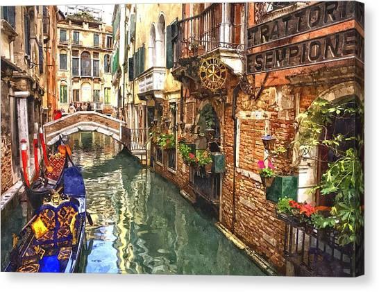 Venice Canal Serenity Canvas Print