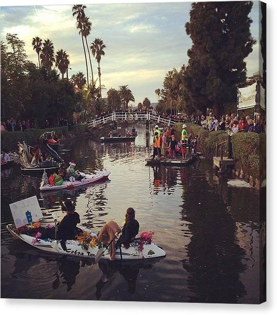 Venice Beach Canvas Print - Venice Canals Float Parade by Eric Ketelsen