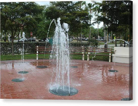 Venice Florida Fountain Canvas Print