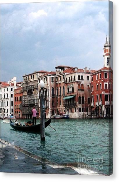Venice Gondola Canvas Print by Sandy MacNeil